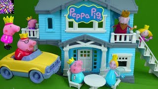 Princess Peppa Pig Royal Family Toys Ben & Holly's Little Kingdom Vacation Green Toys House Playset