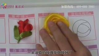 hướng dẫn thêu ruy băng hoa hồng