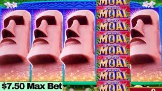 ★BIG WIN★ Great Moai Slot Machine $7.50 Max Bet BONUSES | AWESOME SESSION | Over $700 Profit