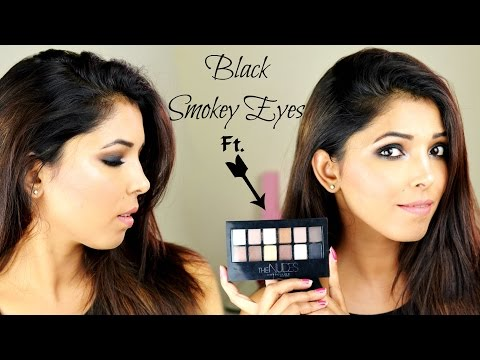 Black Smokey Eyes Tutorial For Indian Skin Tone Ft, Maybelline The Nudes Palette