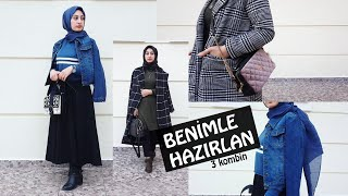 KIŞ KOMBİNLERİM |3 Stil |  Hijab Fashion
