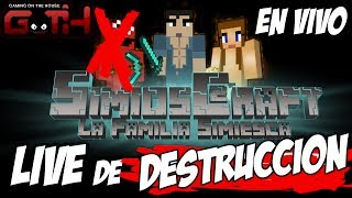 SimiosCraft (Live de Destruccion) en Español Minecraft - GOTH