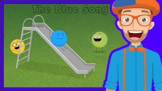The Blue Song with Blippi | Colors Song for Kids