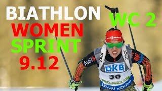 BIATHLON WOMEN SPRINT 9.12.2016  World Cup 2 Pokljuka (Slovenia)