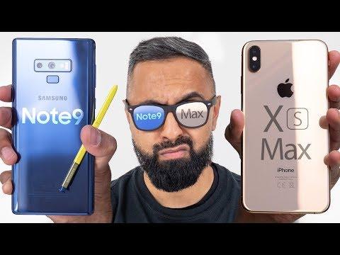 iPhone XS Max vs Samsung Galaxy Note 9