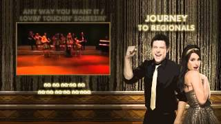 Glee   Journey to Regionals Faithfully, Anyway  Lovin, Dont stop believin Video + Lyrics