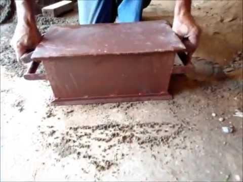 Forma Manual de10 para bloco de cimento