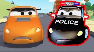 The Car Patrol Fire Truck and Police Car : The Race in Car City | Cars & Trucks cartoon for children
