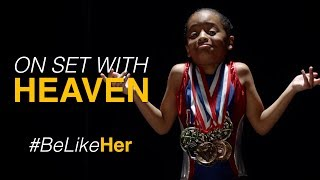Heaven as Simone Biles (Behind The Scenes)