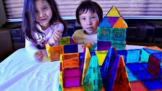 Playing with Magnetic Blocks for Children and Toddlers