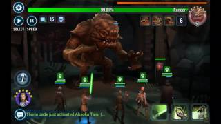 Rancor solo with a 20% Tarkin hit SWGOH