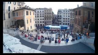 4K Espana square Rome with GoPro Piazza di Spagna Roma