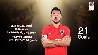 أهداف نجم الريان رودريغو تاباتا  في دوري نجوم قطر 2015/2016