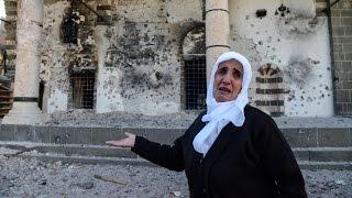 PKK'nın yaktığı camiyi görenler Diyarbakırlı kadınlar : Caminin yerine evim yanaydı