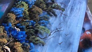 Spray Paint Art - Waterfall - Spray Painting Nature