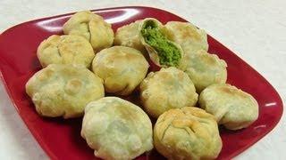 Tuvar Lilva Kachori video recipe - Stuffed Pigeon Peas Balls recipe by Bhavna