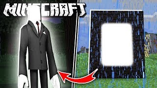 Make a PORTAL to the SLENDERMAN DIMENSION in Minecraft!