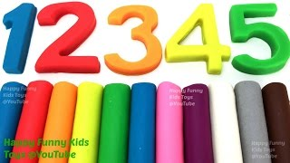 Learn Colors and Numbers with Play Doh Modelling Clay Fun & Creative for Kids and Toddlers