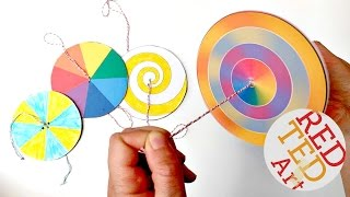 Easy Paper Spinners - STEAM Color Theory (Paper Crafts)