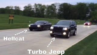 Hellcat vs Turbo Jeep SRT8