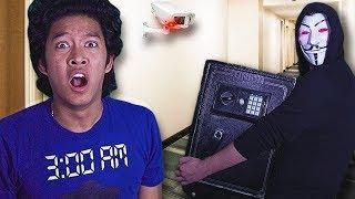 Hacker Caught! On Camera Hiding Secret SAFE!!