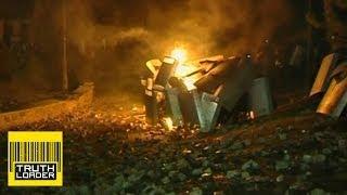 Molotov cocktail burns police in Kiev - What