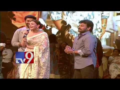 watch Actress Kajal Aggarwal speaks@ Khaidi No 150 Pre Release Event - TV9