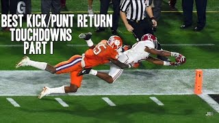 Best Kick/Punt Return Touchdowns of the 2015-16 College Football Season || Part I ᴴᴰ