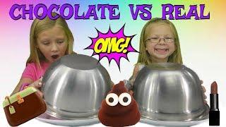 CHOCOLATE vs REAL!!!