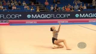 Sara Mohamed ROSTOM (EGY) 2015 Rhythmic Worlds Stuttgart - Qualifications Ribbon