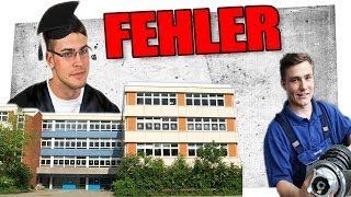 Größter Fehler nach der Schule/Abitur