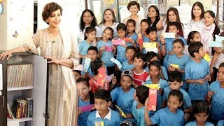 Sonali Bendre's NOBLE GESTURE by OPENING A BOOK CLUB for Poor Kids