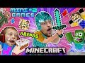 Download Video MINECRAFT MINI-GAMES #2 Batman vs FGTEEV Chase ARENA BATTLE & Hello Neighbor Carnival Challenge Map 3GP MP4 FLV