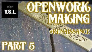 Jewelry Making openwork 18k-gold ring 5/9. Faits à la main bague en or 18 carats