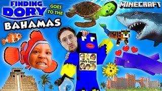 FINDING DORY in BAHAMAS! Minecraft FGTEEV Boys @ Atlantis Resort Hotel Water Slide Map w/ Nemo,Shark