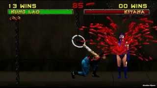 Mortal Kombat 2 All Fatalities on Kitana (HD)
