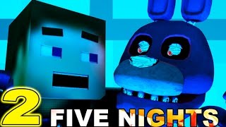 FIVE NIGHTS AT FREDDY'S In Minecraft 2 (3D Minecraft Animation) - Night 2