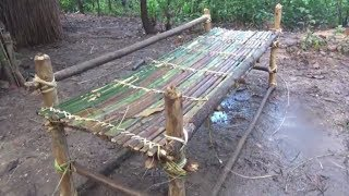 Primitive Life-Make BED and PILLOW-Primitive Technology used!