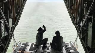 Coast Guard HC-130 Crew Drops Message Block to Adrift Skiff in Bering Sea