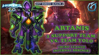 Grubby | Heroes of the Storm 2.0 - Artanis - 2 Support Team vs. Team Yolo - HL 2017 S2 - Infernal S