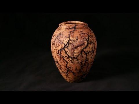 Woodturning with Tim Yoder Lichtenberg Fractal Burned Vessel