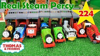 THOMAS AND FRIENDS TRACKMASTER REALSTEAM PERCY The Great Race #224 Thomas and Friends Toys Kids