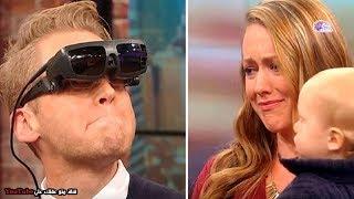 معجزة العلم تجعل رجل اعمى يرى زوجته وابنه لأول مرة | رد فعله جعل الجميع يبكى !