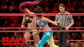 Bayley and Sasha Banks hold nothing back in brutal, high-stakes match: Raw, July 24, 2017