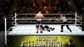 WWE2k17 John Cena vs Brock Lesnar I Quit Mode First Match Gameplay PS3 HD