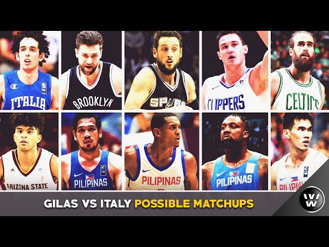 Gilas Pilipinas vs ITALY Possible Match ups Clarkson vs Belinelli Fajardo vs Bargnani