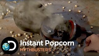How To Make Instant Popcorn | Mythbusters