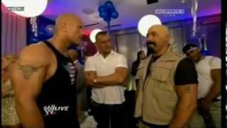 WWE Segments from The Rocks birthday on RAW!!!