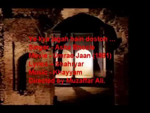 Ye kya jagah hai doston..English subtitle Translation-Umraojaan (1981).mpg