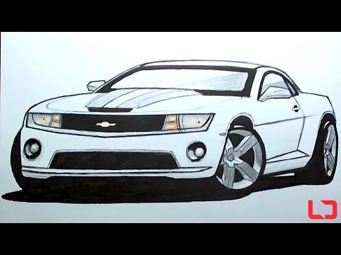 How to draw cars Camaro SS